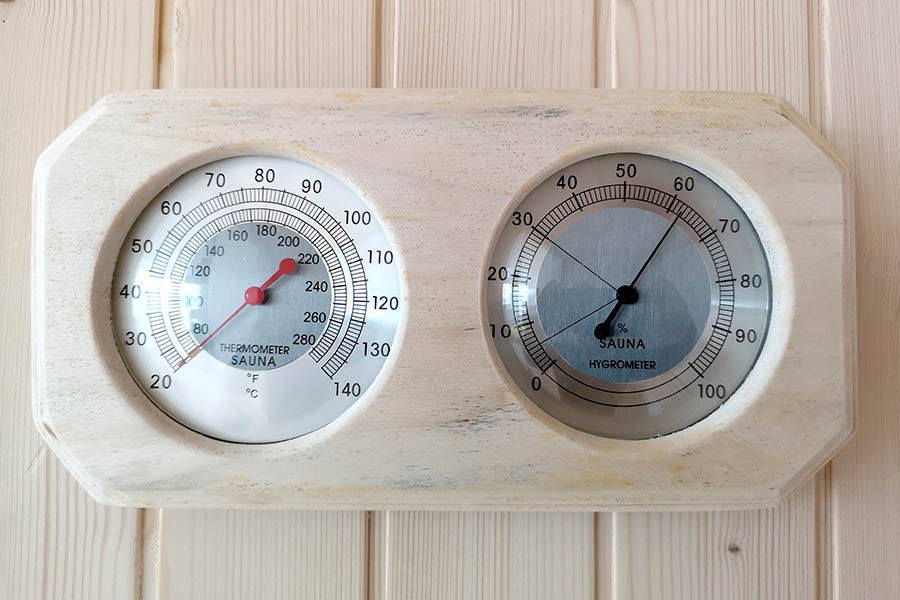 Thermometer/Hygrometer Finnish sauna Beauty Luxury