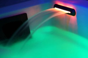 Emotional waterfall with RGB LEDs Beauty Luxury