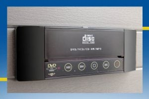 CD/DVD/MP3 player for hot tub spa