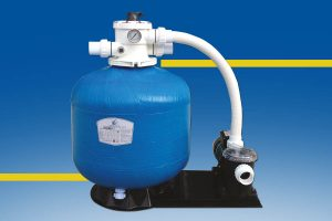Sand filter for hot tub spas