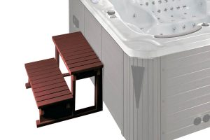 Hot tub wood stepladder Beauty Luxury