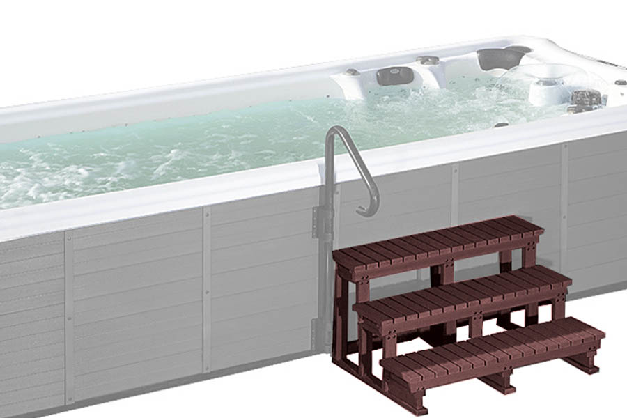 Swim spa wood stepladder Beauty Luxury