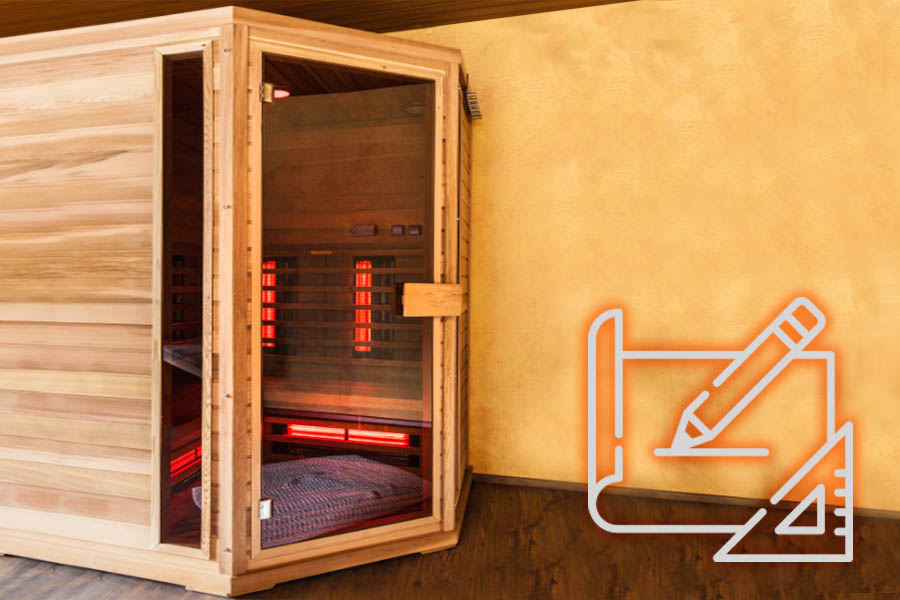 Taylor made infrared sauna BL-SISM Beauty Luxury