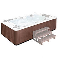 External hot tub H04 brown PVC