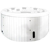 External hot tub H05 white PVC
