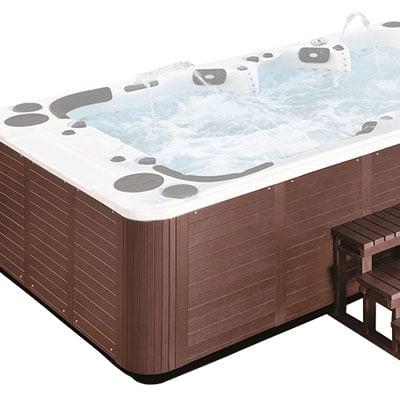External whirlpool bath H04 brown PVC