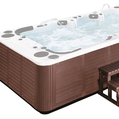 External whirlpool bath H02 dark wood