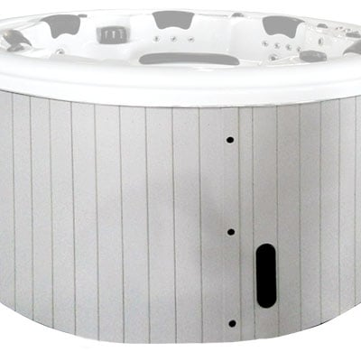 External whirlpool bath H05 white PVC