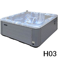 External whirlpool bath H03 grey PVC